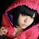 JOJO'S bizarre adventure Daiya Higashikata short black anime cosplay party full hair wig