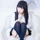 Inu x Boku Secret Service Shirakiin Riricho long straight black anime cosplay party full hair wig