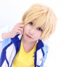 Free! Hazuki Nagisa gold short anime cosplay full hair wig