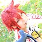 Yowamushi Pedal Naruko Shokichi short red anime cosplay full wig + wig cap