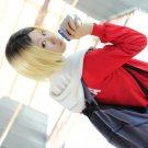Haikyu!!Kenma Kozume short blonde mix black cosplay costume wig