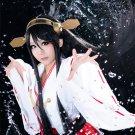 Collection Haruna long black straight cosplay wig 100cm