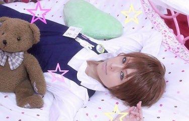 Sekai Ichi Hatsukoi Yukina Kou short brown cosplay wig