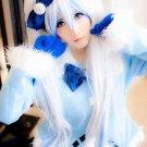Vocaloid Hatsune Zatsune Miku blue white Cosplay Wig With 2 Clips 120CM Ponytails