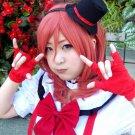 LOVE LIVE Nishikino Maki short red Cosplay wig costume + free shipping