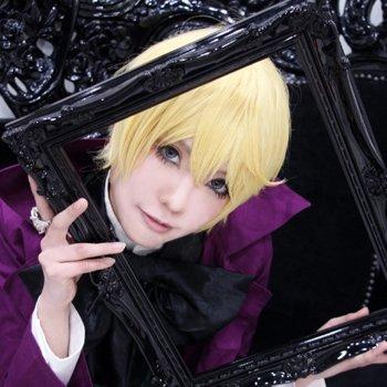 Black Butler kuroshitsuji II 2 Alois Trancy Short Pale Blonde anime Cosplay wig
