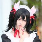 LOVE LIVE Yazawa Niko Black costume Cosplay wig 2 tails