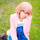 Beyond the Boundary Mirai Kuriyama short light orange Cosplay wig