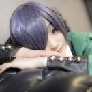 Black Butler Ciel Phantomhive blue gray short cosplay party hair full wig