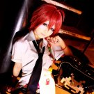 ZONE-00 KUJO short red anime cosplay wig