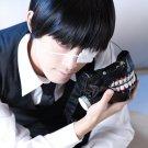 Tokyo Ghoul Ken Kaneki short black cosplay costume wig + Eye mask