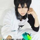 Yowamushi Pedal Yasutomo Arakita  short black cosplay anime full wig
