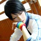 Kuroko's Basketball Nijimura Shuuzou short black cosplay wig