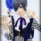 Black Butler Ciel Phantomhive black gray short cosplay party hair full wig