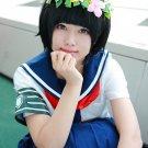 Toaru Kagaku no Railgun Uiharukazari short black cosplay wig