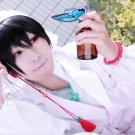 Hoozuki no Reitetsu Hakutaku short black cosplay costume wig + free shipping