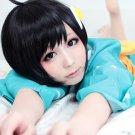 Araragi Tsukihi Araragi Koyomi short black cosplay wig