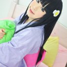 Araragi Tsukihi Araragi Koyomi long black 80cm cosplay wig
