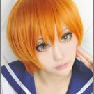 LOVE LIVE Hoshizora Rin orange short anime Cosplay wig
