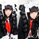 Danganronpa Celestia Ludenbeck Black STYLED Long Ponytails Party Costume Cosplay Wig