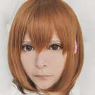 PUPA Yume Hasegawa brown short lovely cosplay costume wig+ hairpin