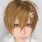 NEW PUPA Utsutsu Hasegawa brown short lovely cosplay costume wig+ hairpin