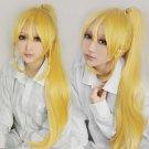 Sword Art Online Kirigaya Suguha blonde 100cm clip on ponytail anime cosplay wig