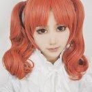 Toaru Kagaku no Railgun Shirai Kuroko orange curly anime cosplay wig