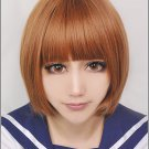 kill la kill Mankanshoku Mako short brown anime cosplay party full hair wig