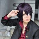 Gintama Takasugi Shinsuke Yato purple black anime cosplay wig