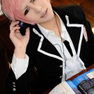 Ao no Exorcist shima renzou short pink anime cosplay wig