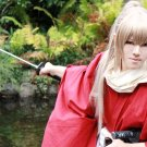GINTAMA silver soul Okita Sougo long 70cm straight tea browm anime cosplay wig