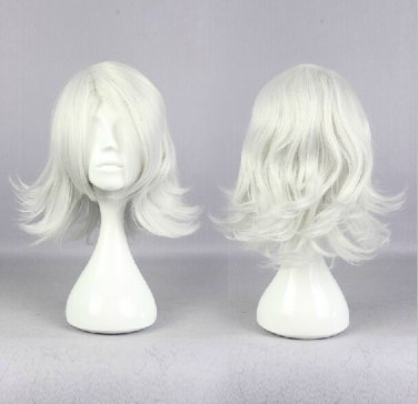 Tokyo Ghoul JUZO SUZUYA REI short curly silver white anime cosplay wig