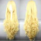 Amagi Brilliant Park Latifah Fururanza long curly 90cm yellow anime cosplay wig