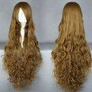 Code Geass Nunnally Sara Mudou 90cm long curly linen anime cosplay wig