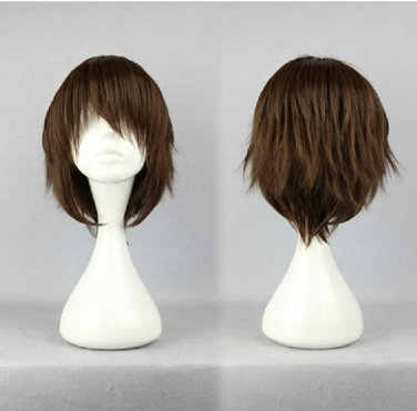 Shakugan no Shana Sakai Uji short dark brown anime cosplay wig