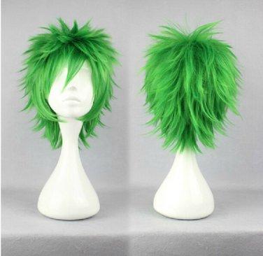 Kiniro no Corda Hihara Kazuki short green anime cosplay wig