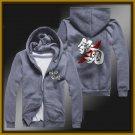 GINTAMA Silver Soul Sakata Gintoki zipper anime cosplay cardigan hoodie coat sweatshirt