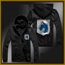 military police regiment Attack on Titan zipper anime cosplay cardigan hoodie coat sweatshirt