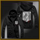 training corps Attack on Titan Armin zipper anime cosplay cardigan hoodie coat sweatshirt