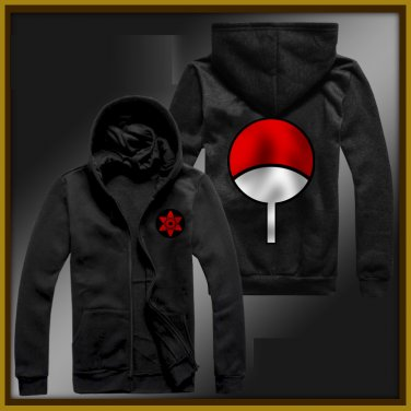 Naruto Uchiha Sasuke winter zipper anime cosplay cardigan hoodie coat sweatshirt
