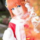 GINTAMA Kagura short orange anime cosplay wig
