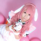 Vocaloid LUKA dark pink long 80cm curly Cosplay Wig