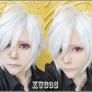 Brothers Conflict Asahina Tsubaki Short Silver White Cosplay Wig +free shipping