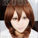 Uta no Prince-sama Kotobuki Reiji short brown curly anime Cosplay Wig