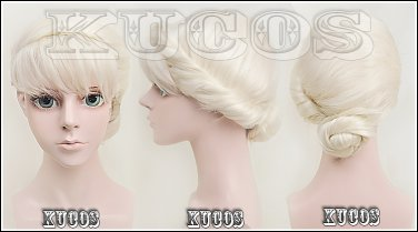 ELSA coronate queen Palace Updo cosplay wig