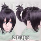Noragami yato yaboku short dark purple cosplay wig