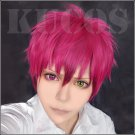 Kuroko no Basuke 2 Akashi Seijuro Captain short rose red costume cosplay wig