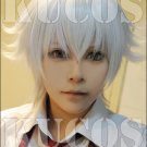 K-project ISANA YASHIRO short silver white anime cosplay full wig