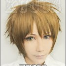 Isshukan Friends Hase Yuuki short brown mix anime cosplay full wig